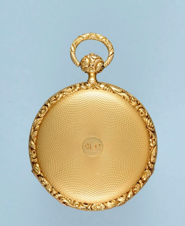 SMALL SWISS QUARTER REPEATING CYLINDER POCKET WATCH - image 4