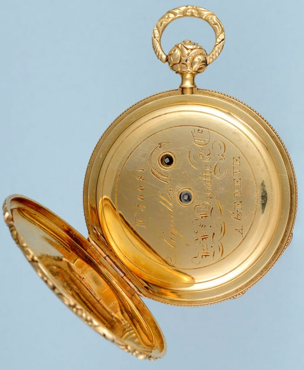SMALL SWISS QUARTER REPEATING CYLINDER POCKET WATCH - image 3