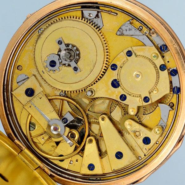 GOLD QUARTER REPEATING CYLINDER POCKET WATCH - image 3