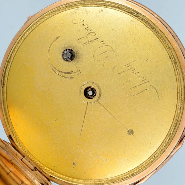 GOLD QUARTER REPEATING CYLINDER POCKET WATCH - image 2