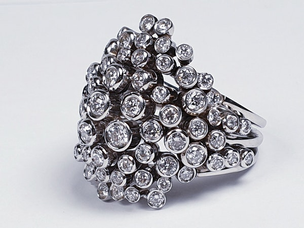 Diamond 'Bubbles' Dress Ring  DBGEMS - image 2