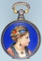 ENAMELLED SILVER GILT CHINESE MARKET POCKET WATCH - image 1