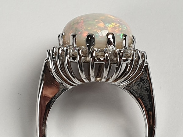 Substantial opal and diamond dress ring  DBGEMS - image 3