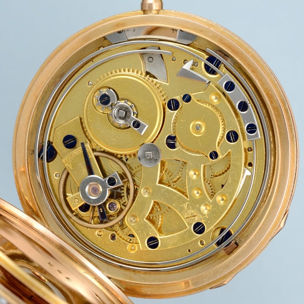 VERY FINE & RARE PEARL ENCRUSTED GOLD REPEATER - image 3