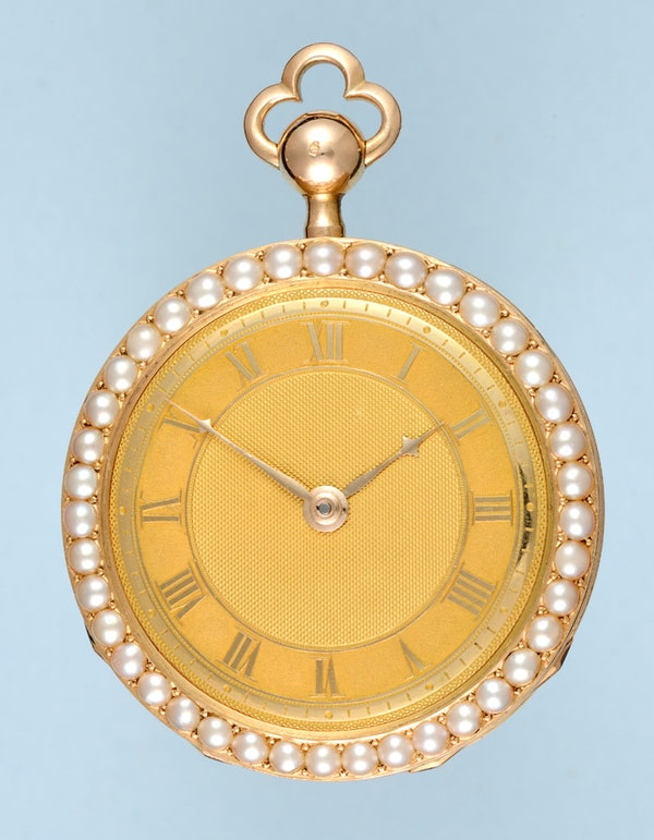 VERY FINE & RARE PEARL ENCRUSTED GOLD REPEATER - image 5
