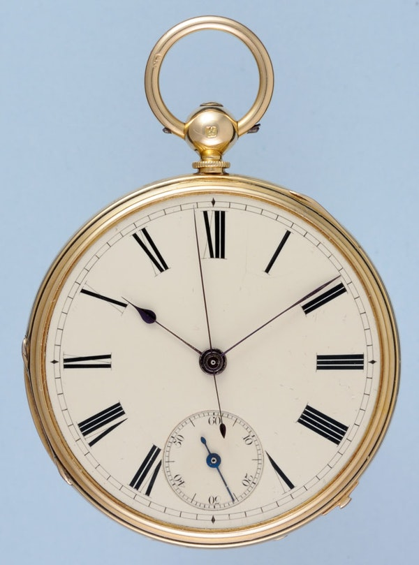 GOLD INDEPENDENT SECONDS LEVER POCKET WATCH - image 1