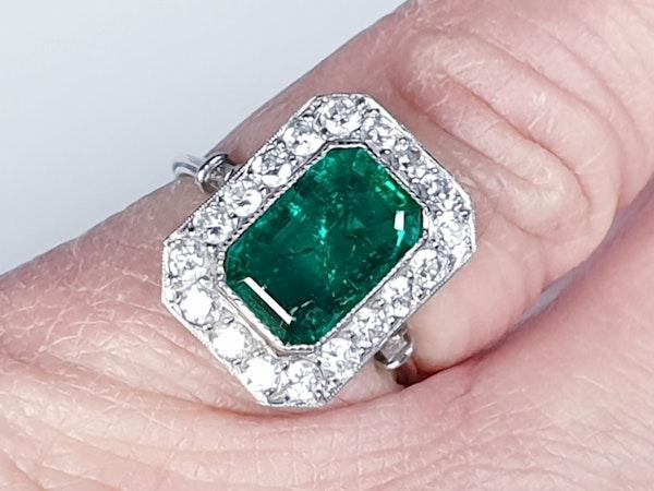 Emerald and diamond dress ring  DBGEMS - image 4