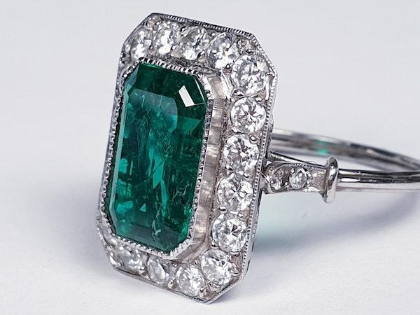 Emerald and diamond dress ring  DBGEMS - image 1