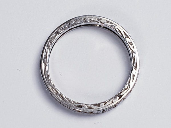 Art Deco Diamond Full Hoop Eternity Ring  DBGEMS - image 1