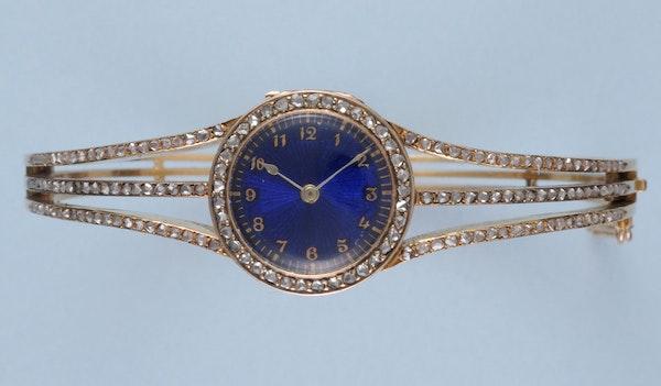 DIAMOND SET GOLD BRACELET WATCH - image 3