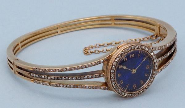 DIAMOND SET GOLD BRACELET WATCH - image 1