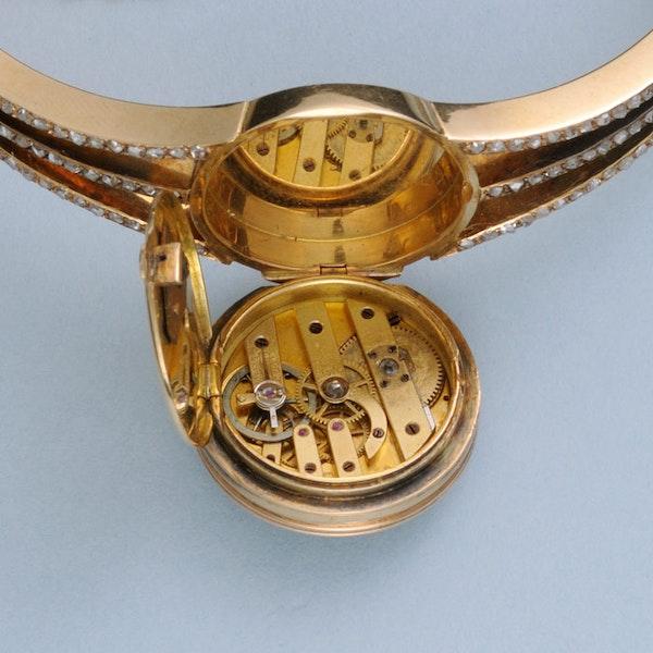 DIAMOND SET GOLD BRACELET WATCH - image 2