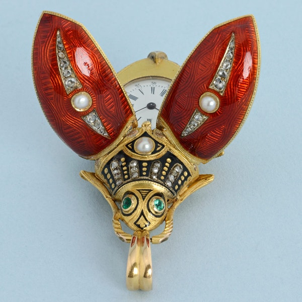 GOLD AND ENAMEL BEETLE FORM WATCH - image 8