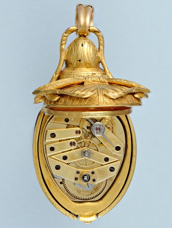 GOLD AND ENAMEL BEETLE FORM WATCH - image 3