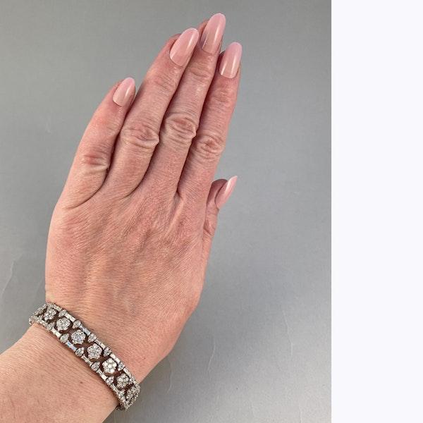 1960's, 18ct White Gold Diamond stone set Bracelet, SHAPIRO & Co since1979 - image 7