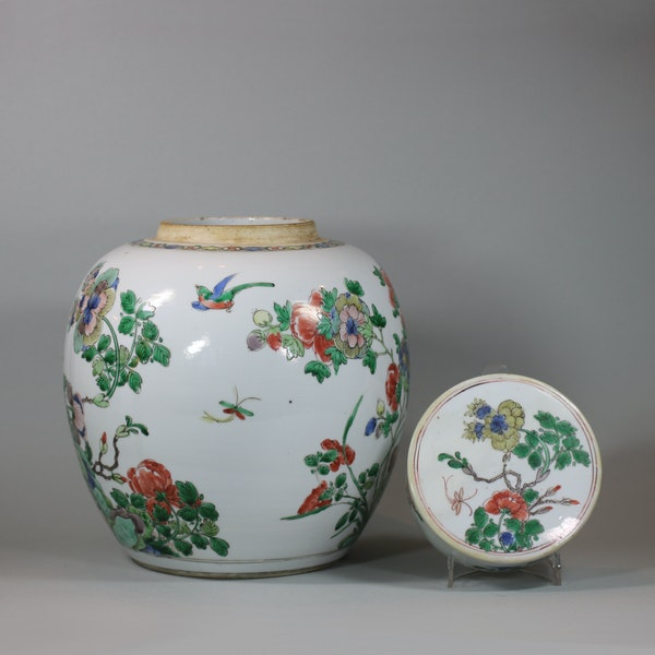 Chinese famille-verte ginger jar and cover, Kangxi (1662-1722) - image 4