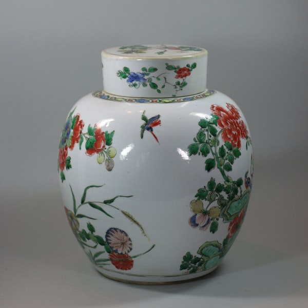 Chinese famille-verte ginger jar and cover, Kangxi (1662-1722) - image 2