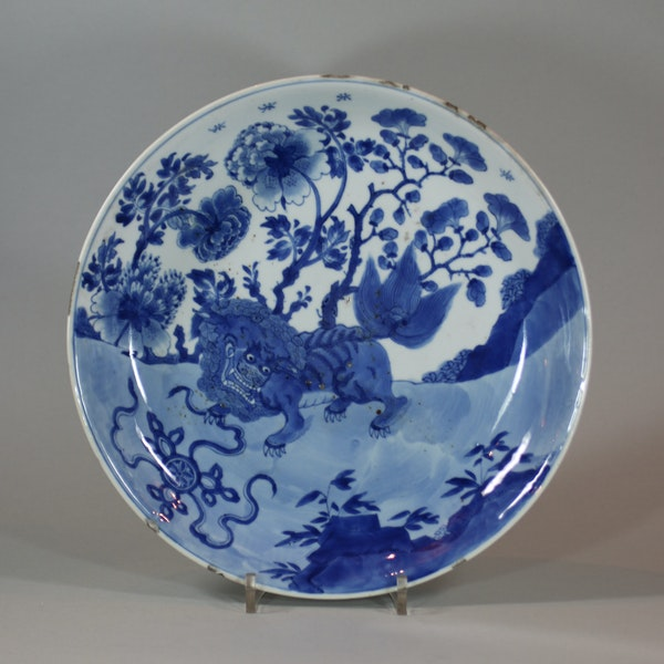 Chinese blue and white dish, Kangxi (1662-1722) - image 1