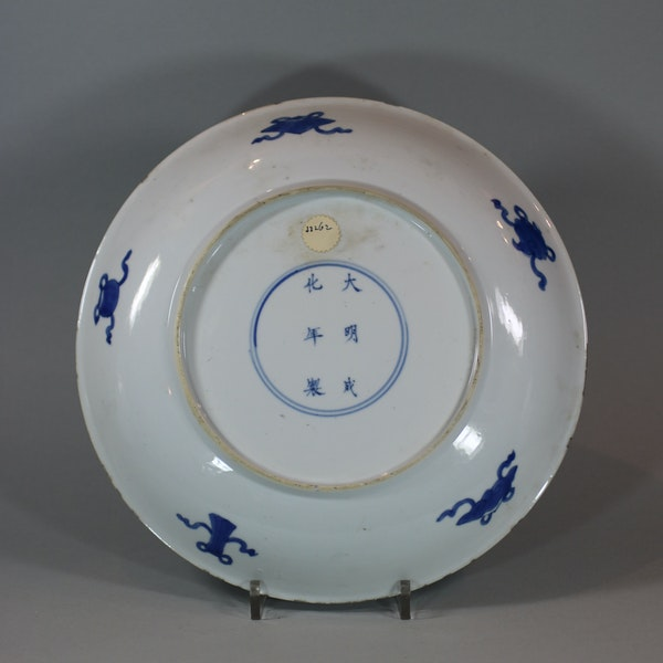 Chinese blue and white dish, Kangxi (1662-1722) - image 2