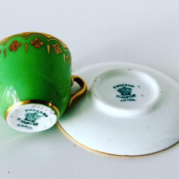 Miniature Coalport cup and saucer - image 4