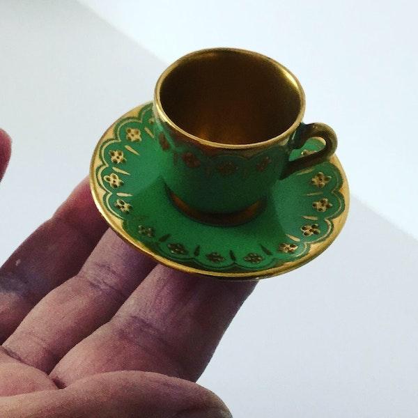Miniature Coalport cup and saucer - image 1