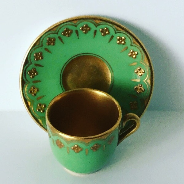 Miniature Coalport cup and saucer - image 3