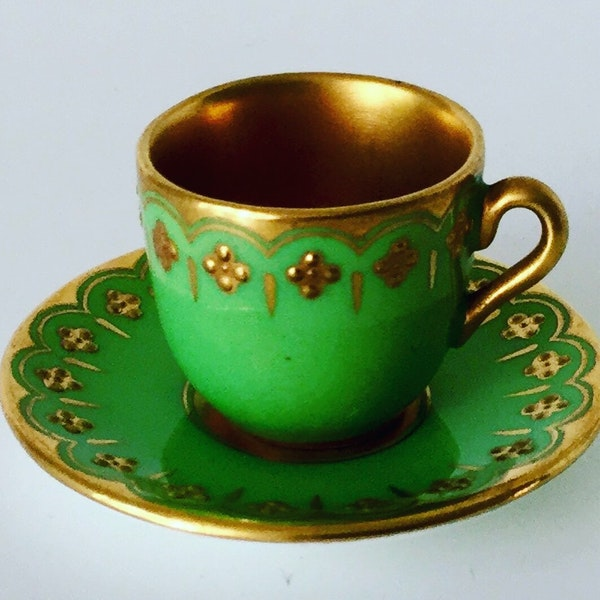 Miniature Coalport cup and saucer - image 2