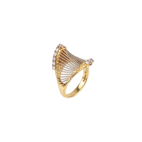David Thomas 1970s diamond ring - image 1