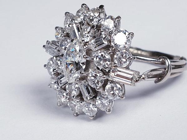 Stunning Diamond Cluster Ring  DBGEMS - image 4