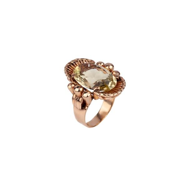 Citrine gold cocktail ring - image 1