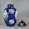 Large Chinese powder blue baluster vase and cover, Kangxi (1662-1722) - image 8