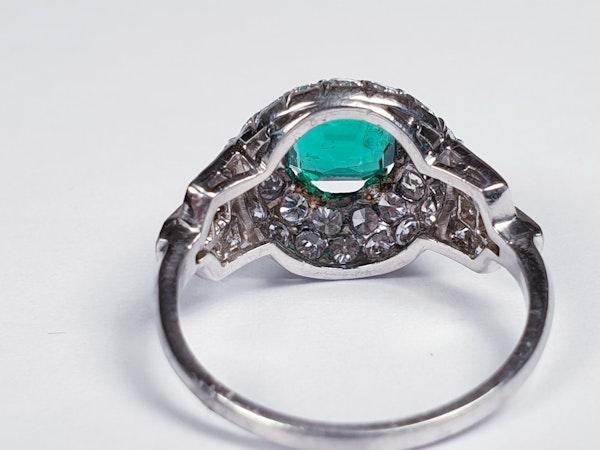 Art deco Columbian emerald engagement ring  DBGEMS - image 4