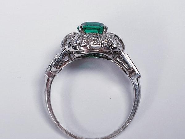 Art deco Columbian emerald engagement ring  DBGEMS - image 1