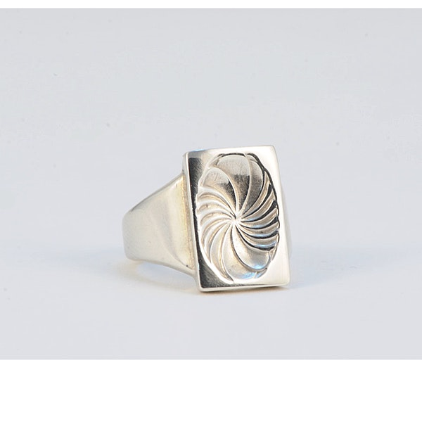 Date: post 1945 mark, Silver Ring by Georg Jensen, SHAPIRO & Co since1979 - image 8