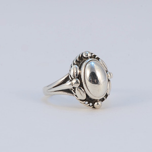 Date: post 1945 mark, Silver Ring by Georg Jensen, SHAPIRO & Co since1979 - image 1