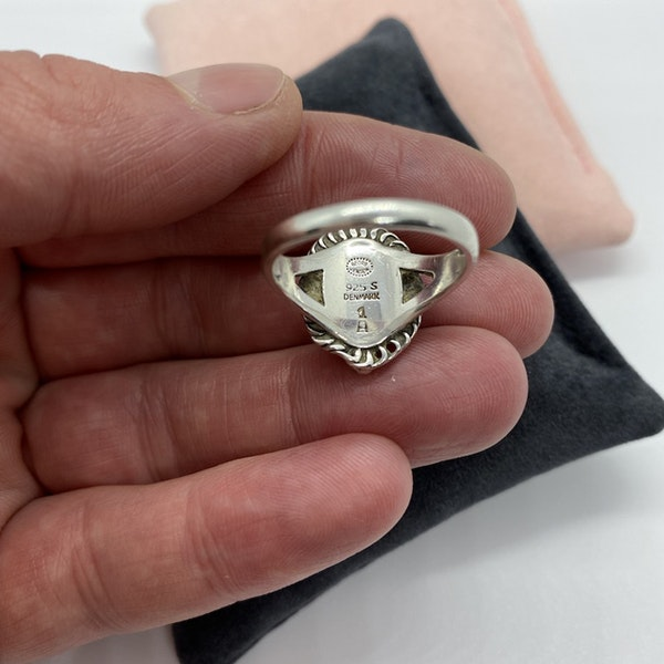 Date: post 1945 mark, Silver Ring by Georg Jensen, SHAPIRO & Co since1979 - image 4