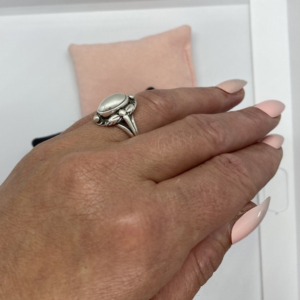 Date: post 1945 mark, Silver Ring by Georg Jensen, SHAPIRO & Co since1979 - image 5