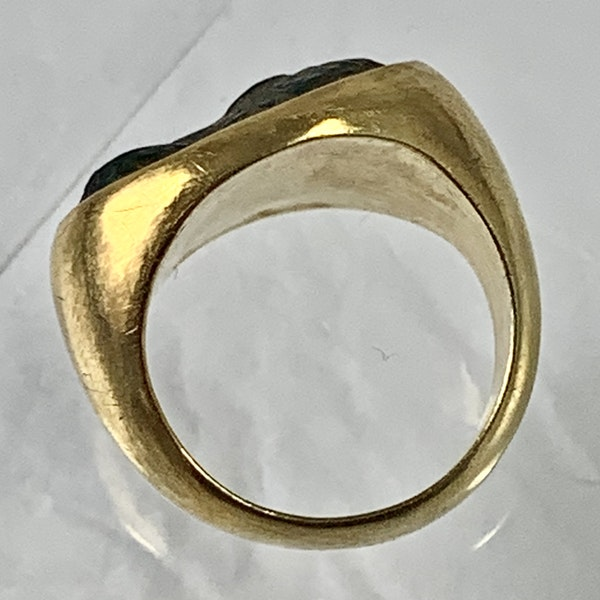Ancient Greek bronze ring in later gold mount - image 2