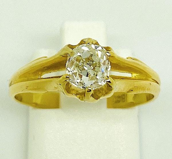 18K yellow gold 0.60ct Diamond Ring - image 4