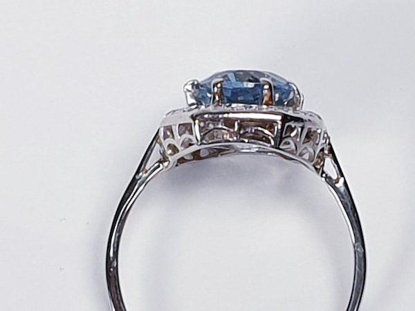 Art deco aquamarine and diamond ring  DBGEMS - image 3