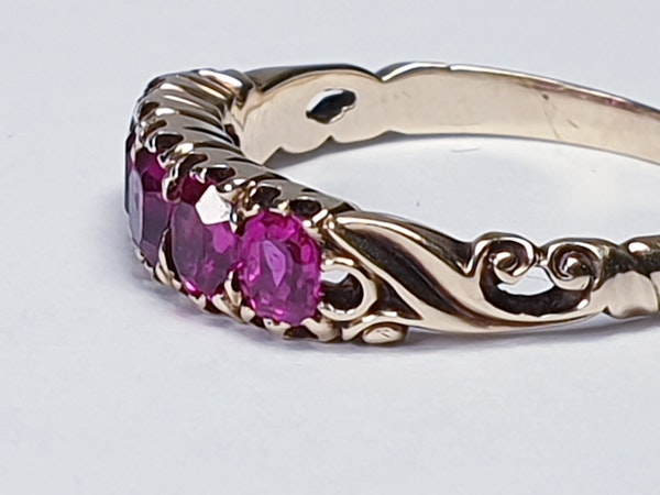 Victorian Five Stone Ruby Ring 3317 DBGEMS - image 4