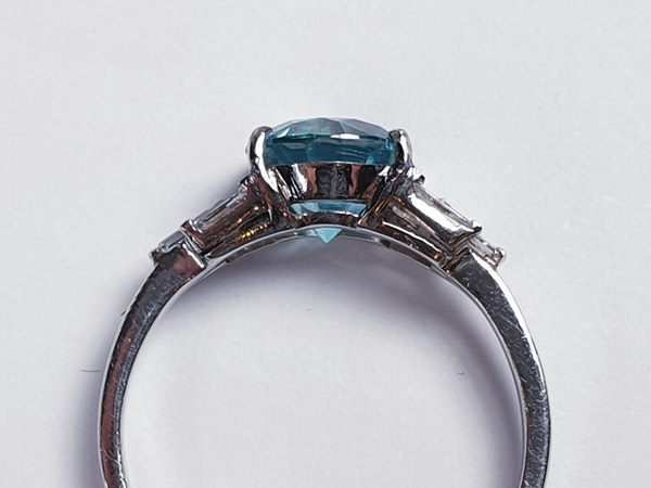 Art deco zircon and baguette diamond art deco ring  DBGEMS - image 3