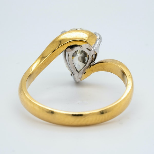 18K yellow gold 1.99ct Diamond Solitaire Engagement Ring - image 4