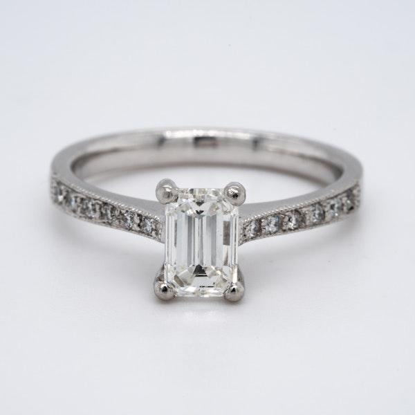 Platinum 1.02ct Diamond Solitaire Engagement Ring - image 1