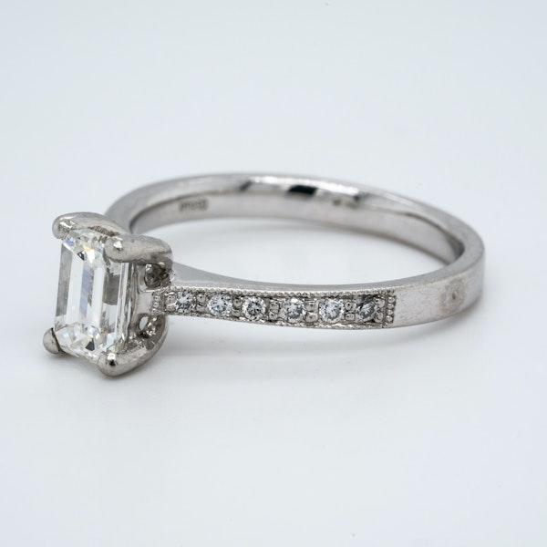 Platinum 1.02ct Diamond Solitaire Engagement Ring - image 3