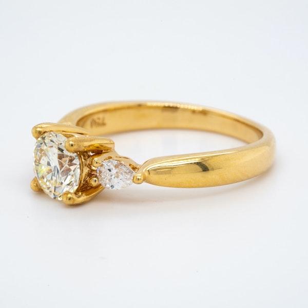 18K yellow gold 1.00ct Diamond Engagement Ring - image 3