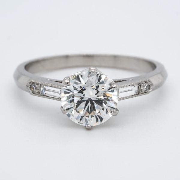 Platinum 1.50ct Diamond Solitaire Engagement Ring - image 1
