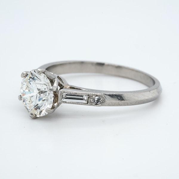 Platinum 1.50ct Diamond Solitaire Engagement Ring - image 3