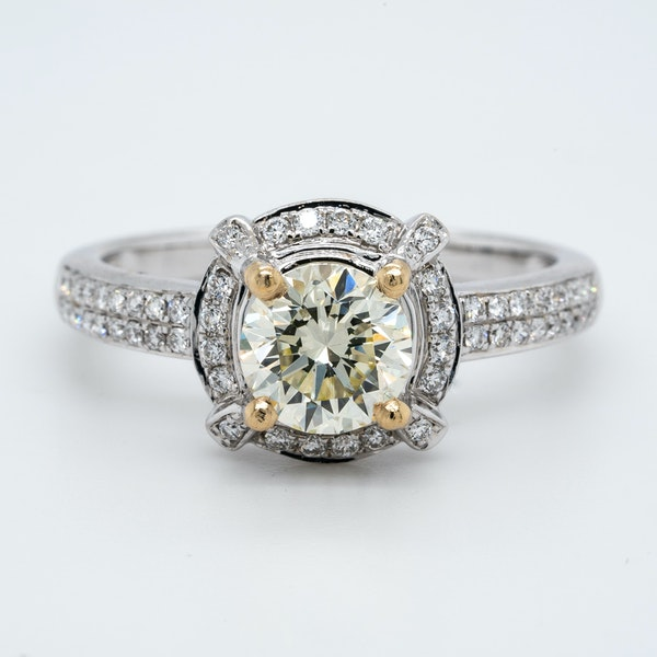 18K white gold 1.02ct (+0.60ct) Diamond Engagement Ring - image 1