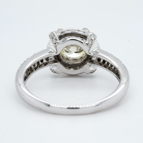 18K white gold 1.02ct (+0.60ct) Diamond Engagement Ring - image 4